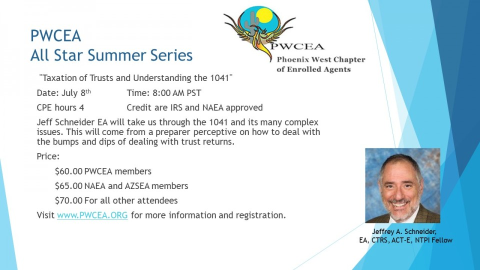 PWCEA All Star Summer Series Flier